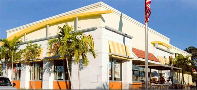 佛州West Palm Beach市麦当劳快餐,剩余13年NNN租约,商业密集,交通便利