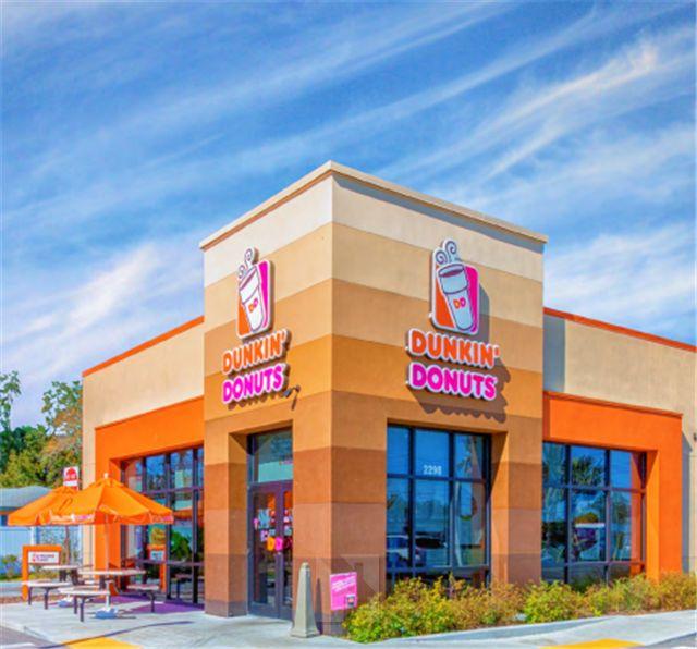 佛州坦帕西部Largo市Dunkin' Donuts餐厅,剩余12年NNN租约,商业密集,人口密集