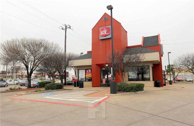 达拉斯Dallas Jack in the box快餐店,剩余4年NNN租约,回报率5.3%,高质量租户,交通繁忙