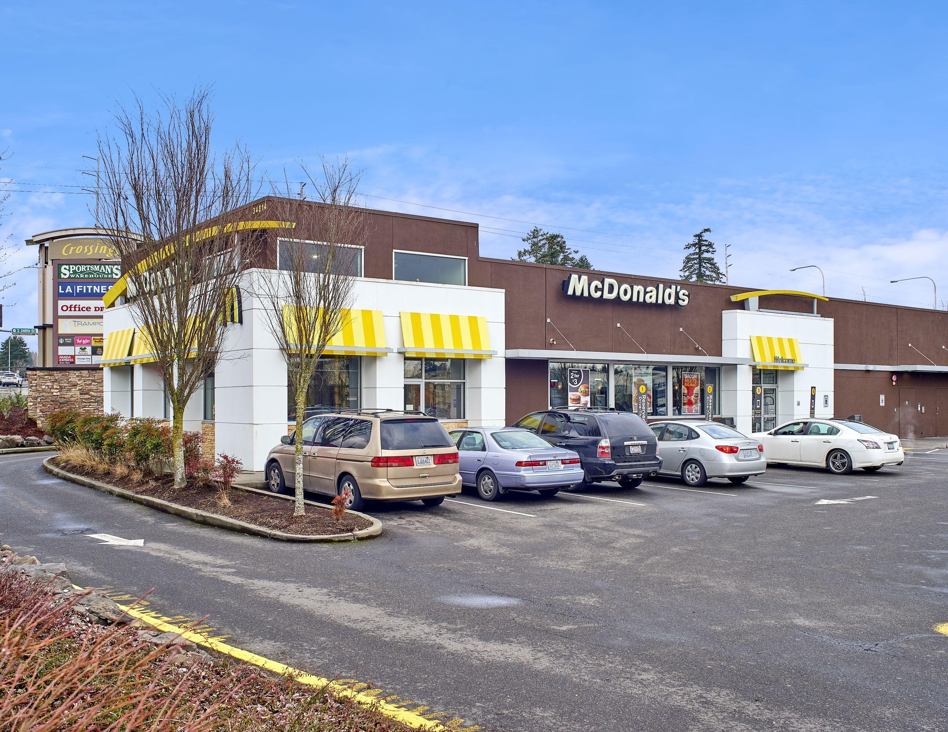 华盛顿州Federal Way市麦当劳,NNN租约,回报率4.4%