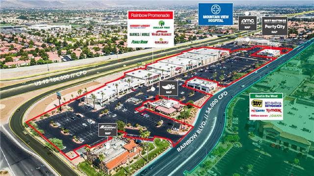 内华达州拉斯维加斯Las Vegas超大型多租户零售商业广场打包出售NNN租约剩余7年